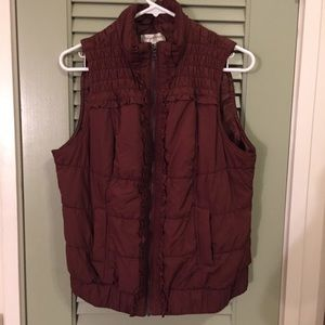 Christopher and Banks Rust Vest L